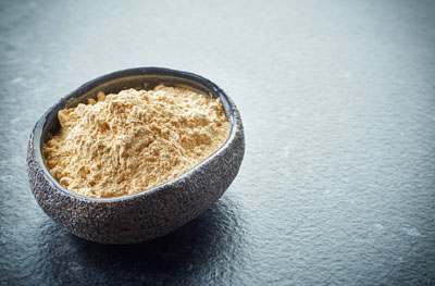 Maca in powdered form in a bowl