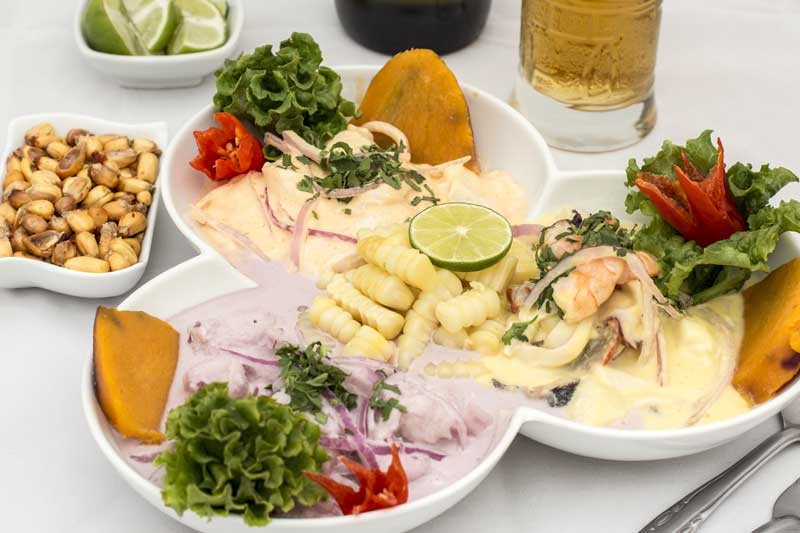 three types of ceviche healthy dishes