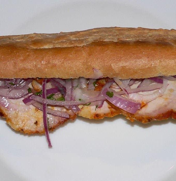 Peruvian Butifarra Sandwich