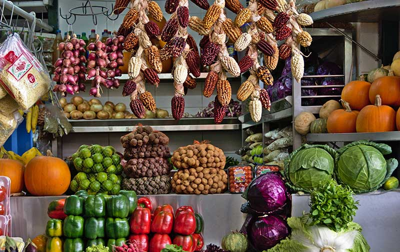Vegetable Stall - Mercado de Surquillo, Miraflores, Lima