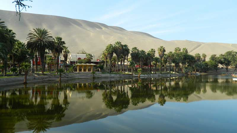 Lake Huacachina, Peru