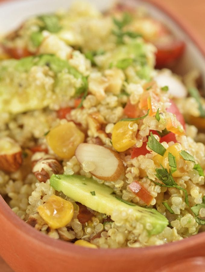 Peruvian quinoa salad with avocado