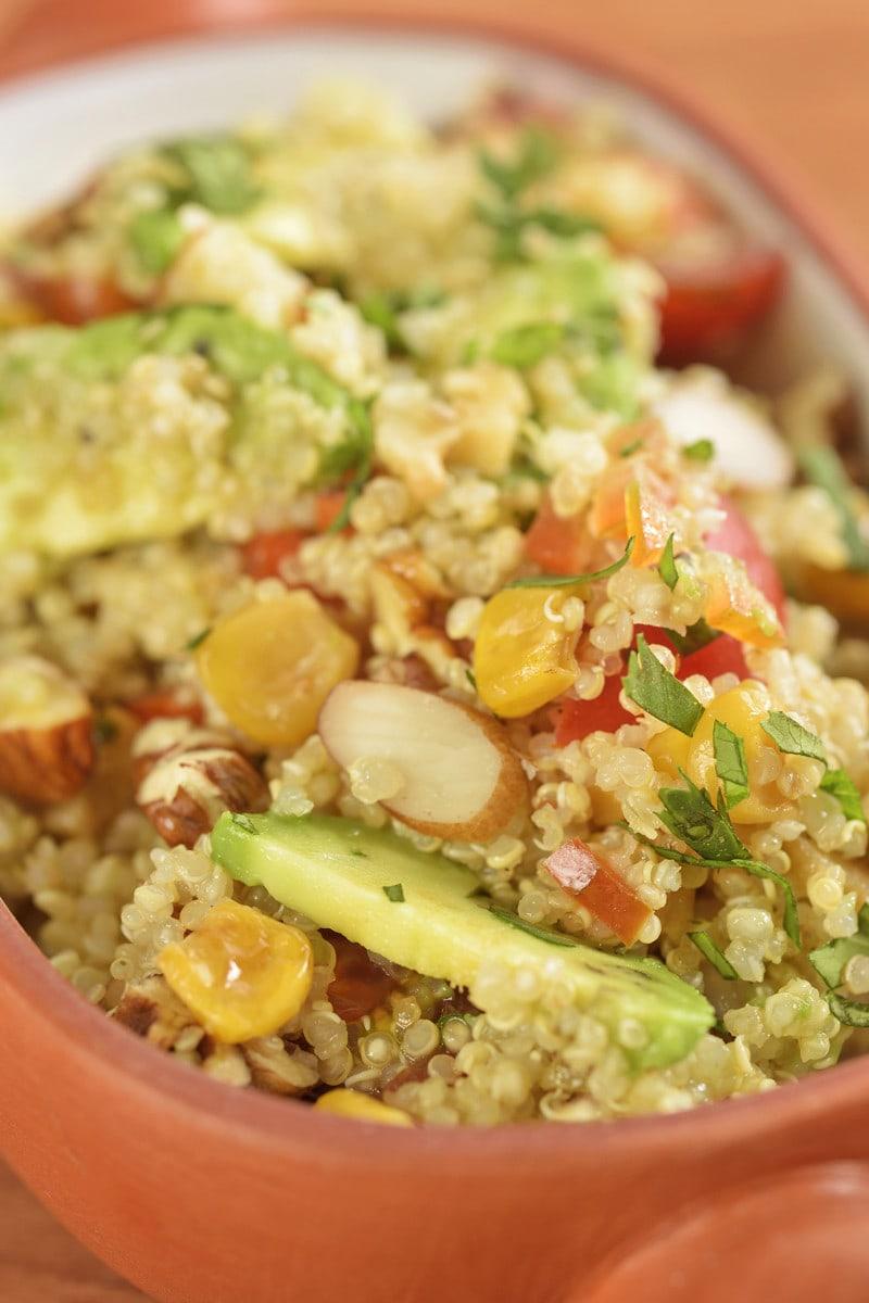 Peruvian quinoa salad with avocado