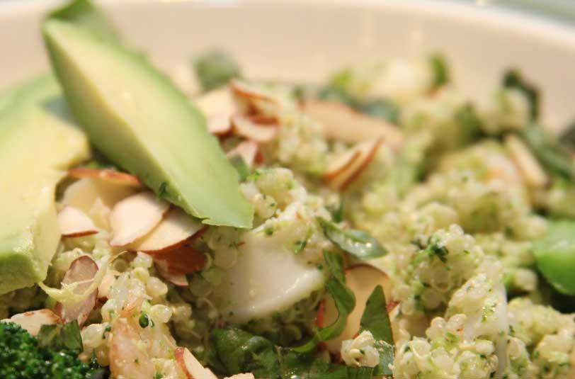 Quinoa avocado salad