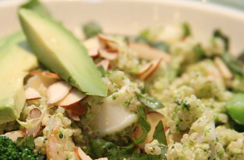 Quinoa avocado salad