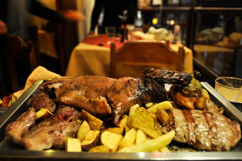 Guinea Pig, Alpaga and more for dinner, Cusco, Peru.