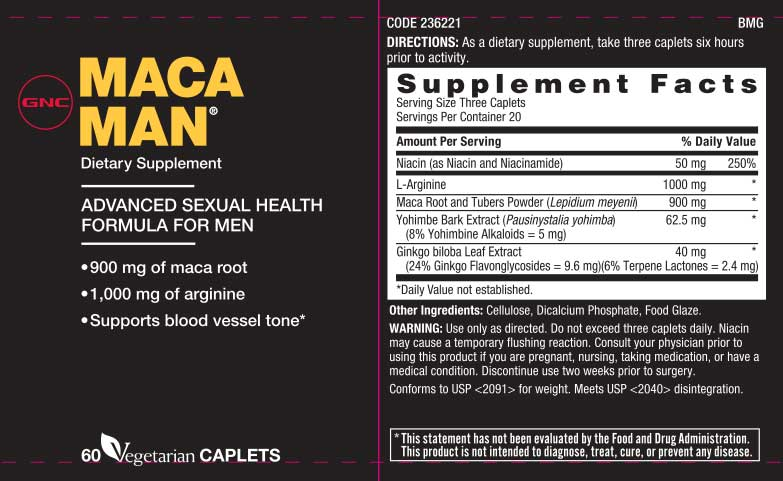 maca man nutritional information