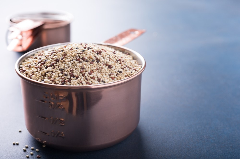 mixed raw quinoa peruvian vegetarian grain