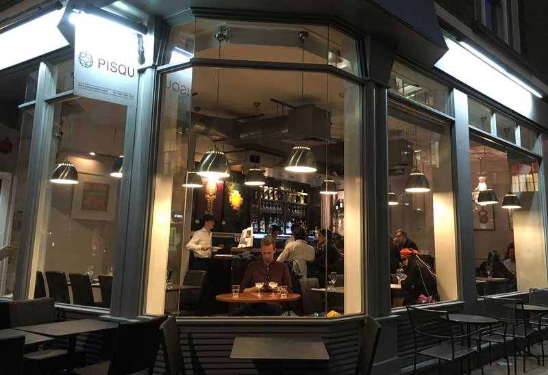Pisqu London restaurant street view