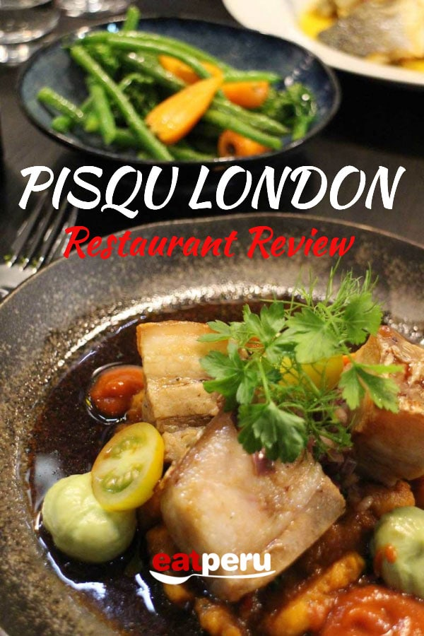 Pisqu restaurant review - London's Best Peruvian Restaurant