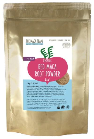 organic premium raw red maca powder