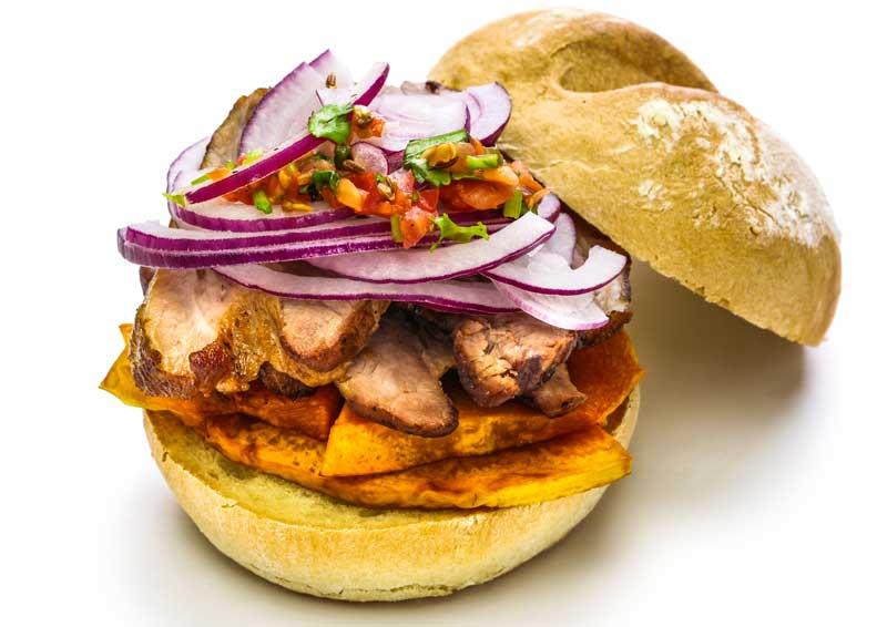 pan con chicharron peruvian