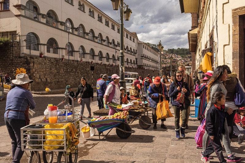 cusco street scene - peruvian cultural travel
