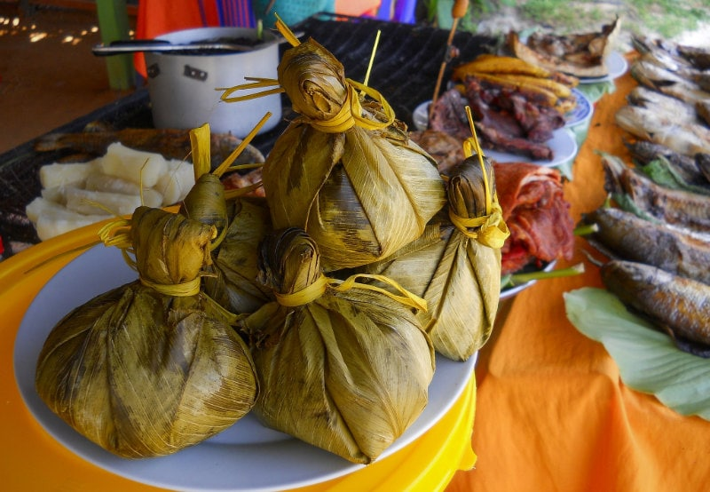 Juanes traditional Amazonian food from Peru