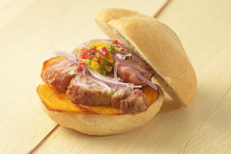 Pan con chicharron Peruvian pork sandwich recipe
