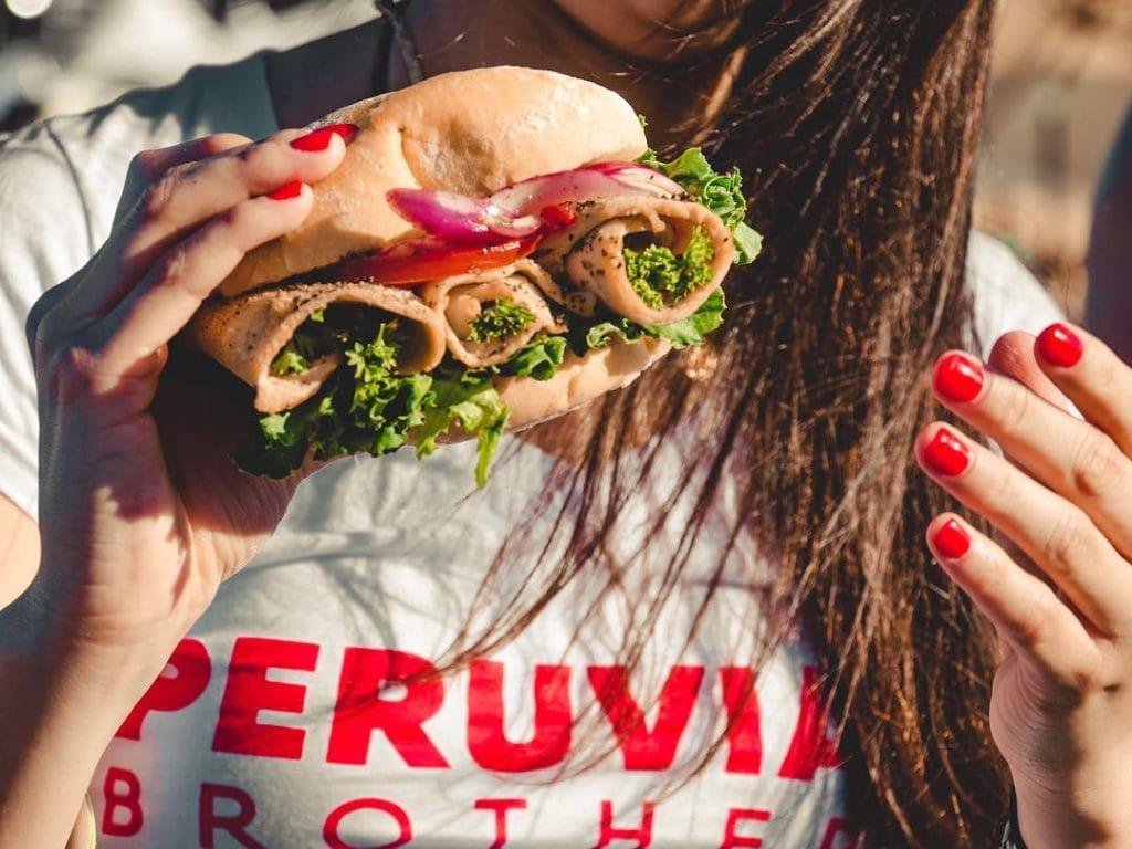 Peruvian Brothers street food sandwich