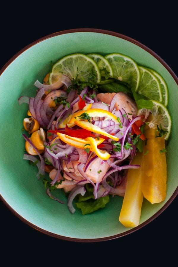 peruvian ceviche dish in lima restaurantperuvian ceviche dish in lima restaurant