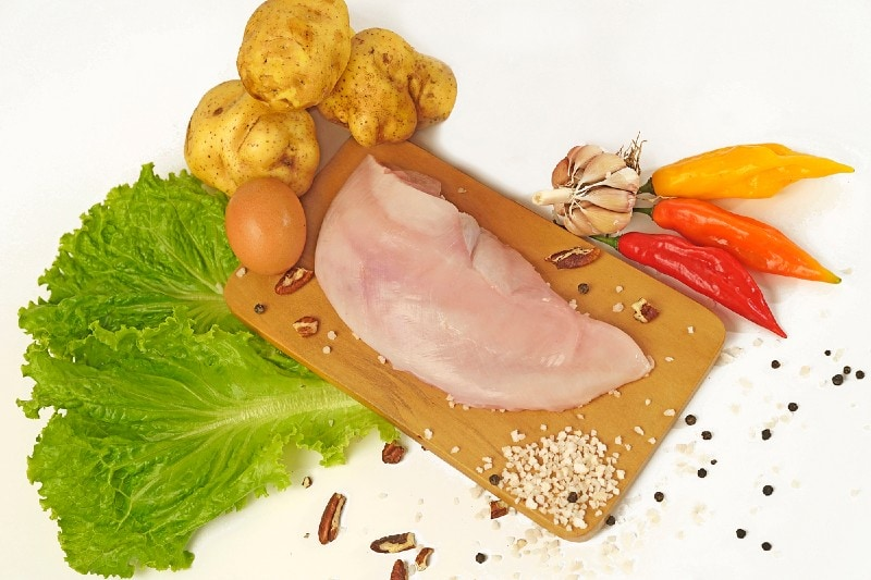 Ingredients for aji de gallina