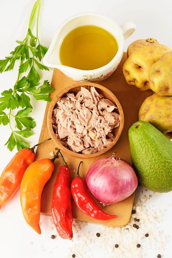 Peruvian Causa Rellena Recipe ingredients