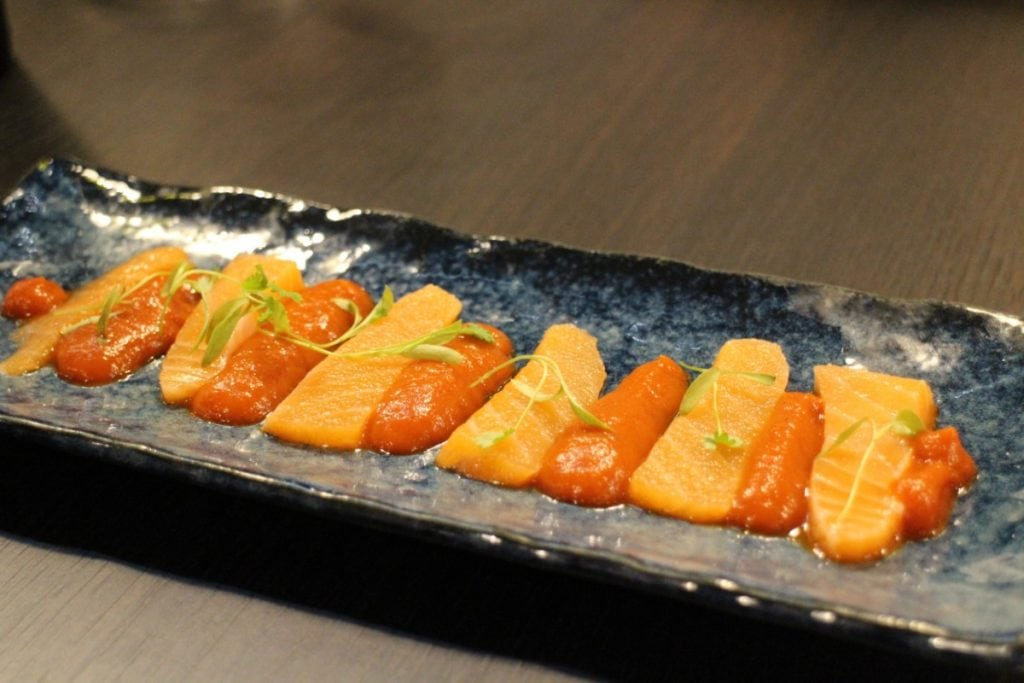 Salmon Tiradito: Nikkei food from Peru