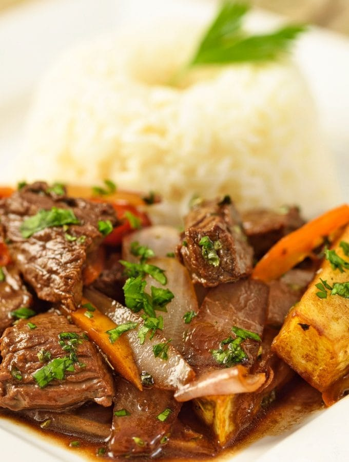 Lomo Saltado Peruvian Beef Stir Fry Recipe