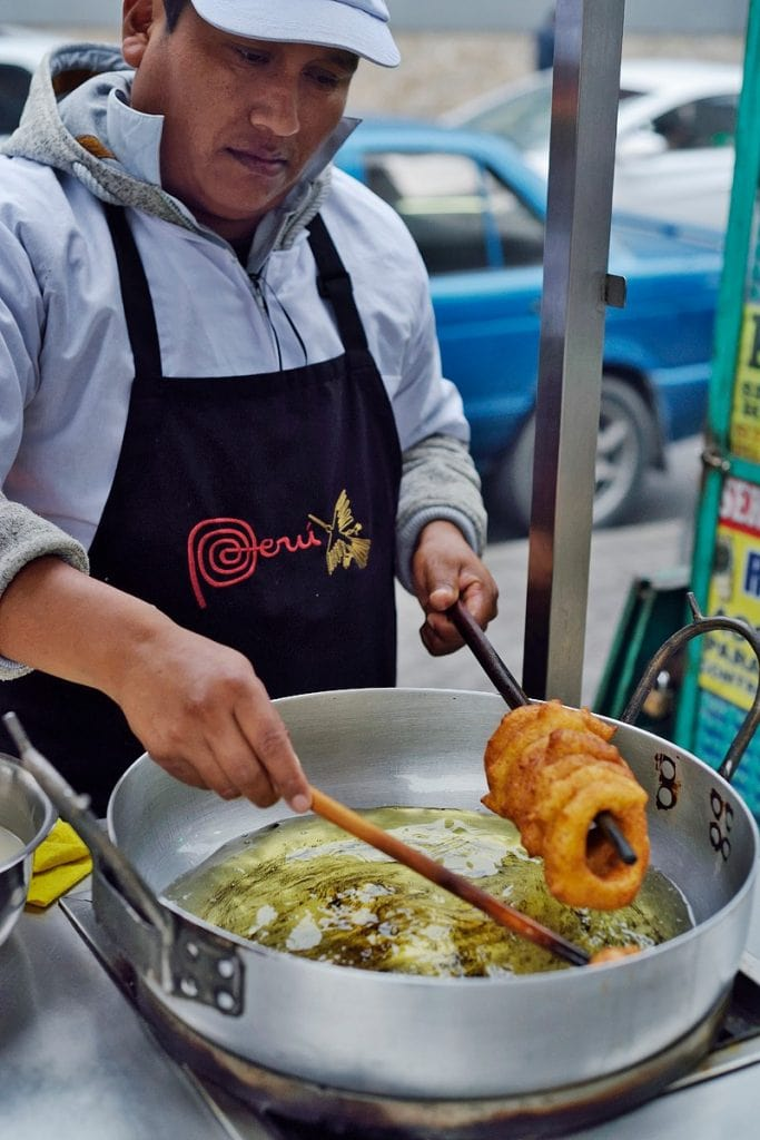 Preparing picarones on the streets of lima