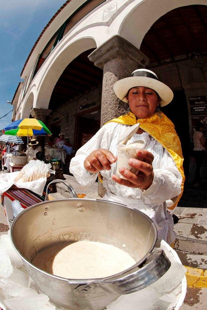 Queso helado dessert in Cusco