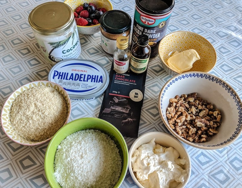 Low carb Peruvian chocolate cake ingredients