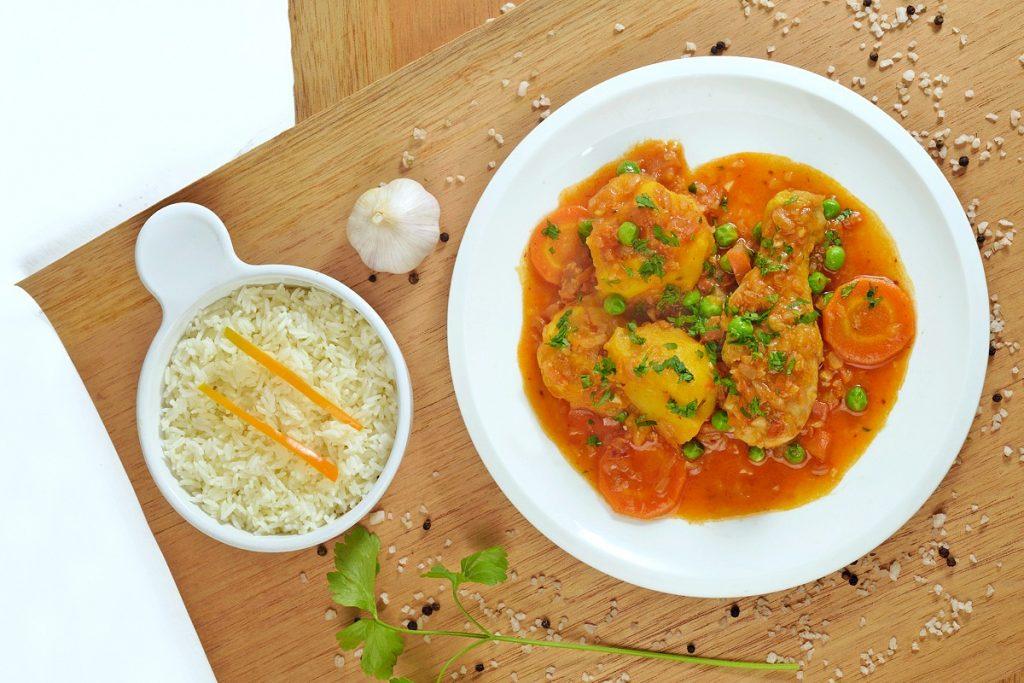 estofado de pollo chicken stew with rice