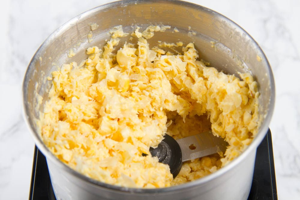 Crushed Corn Kernels in blender