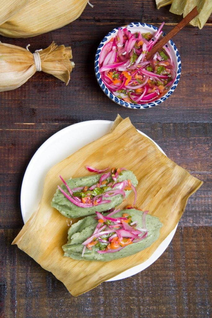 Green Tamalitos -  Peruvian Tamales Verdes recipe