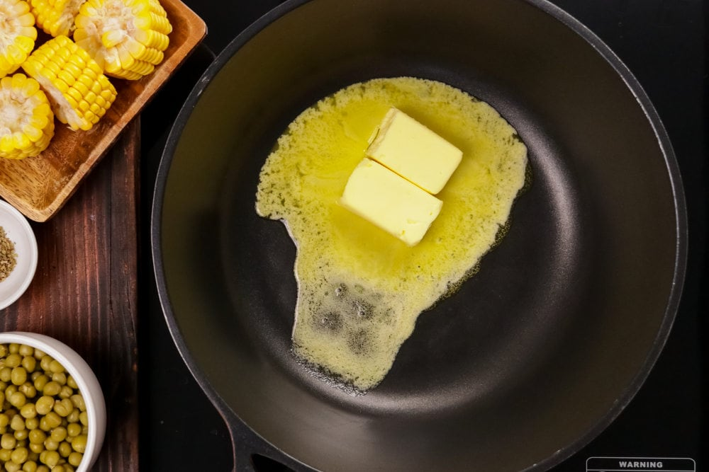 heat butter in the pan