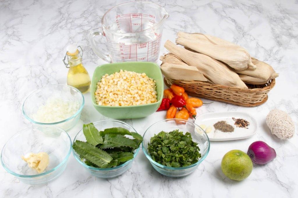 ingredients for tamales verdes recipe