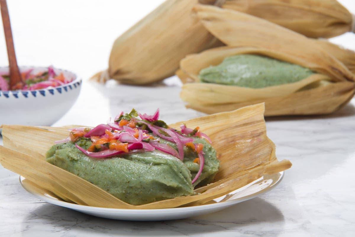 Green tamales peruvian tamalitos verdes