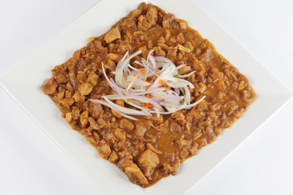 delicious Peruvian pork and chicken stew