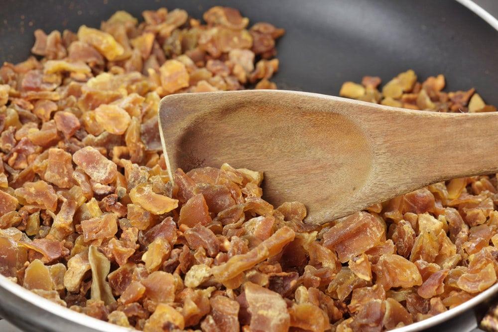 roast freeze-dried potato over dry heat