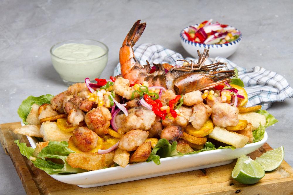 jalea fried seafood dish from peru