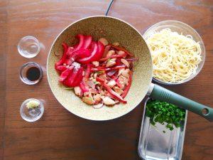 step 4 add tomatoes to wok