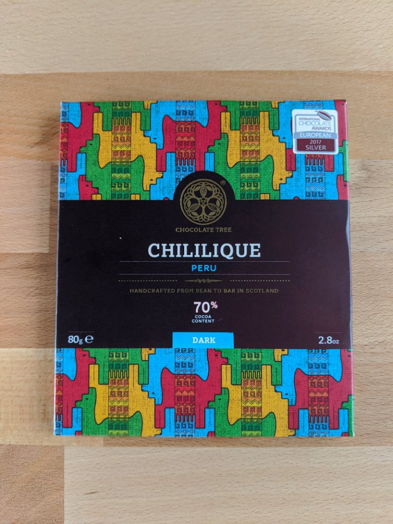 Chililique bar from Chocolate Tree UK