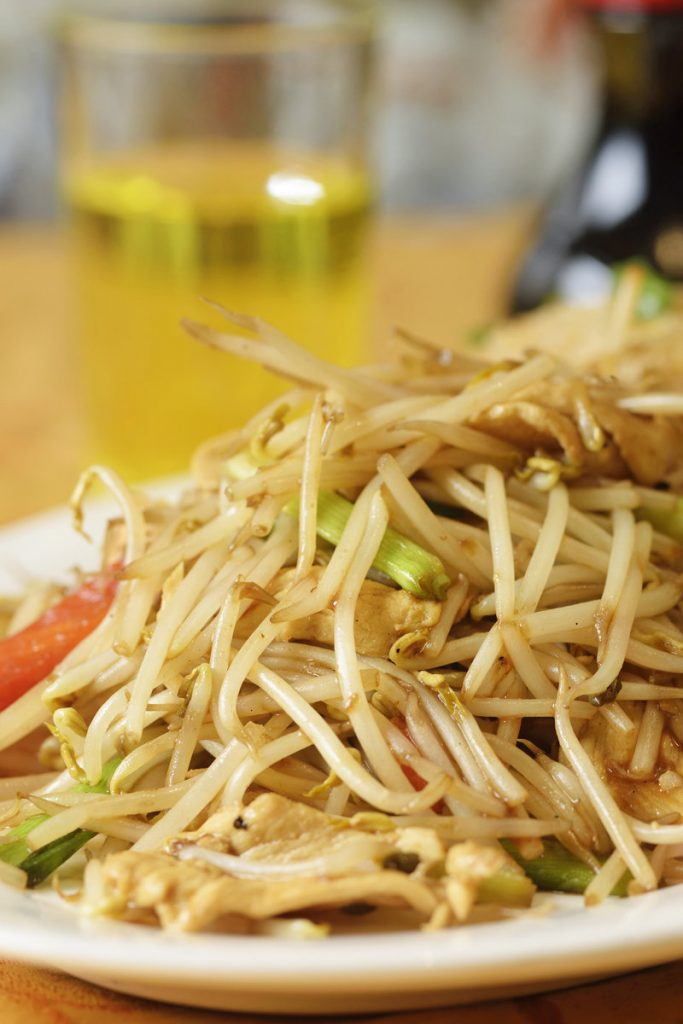 Mung bean sprout stir fry
