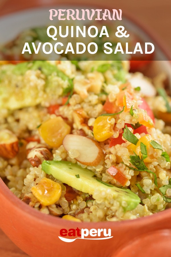 Peruvian Quinoa Salad with Avocado Recipe