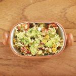 quinoa salad with avocado dish