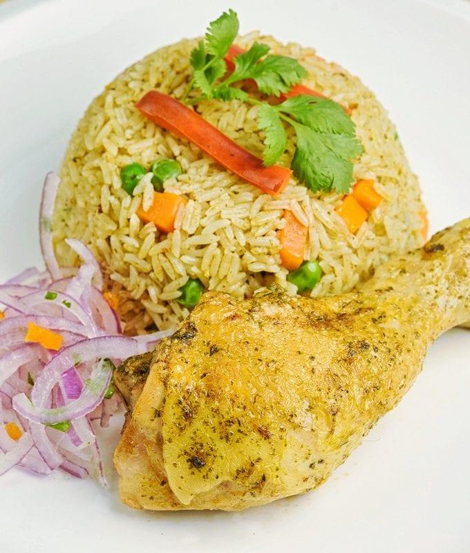 arroz con pollo peruano peruvian dish