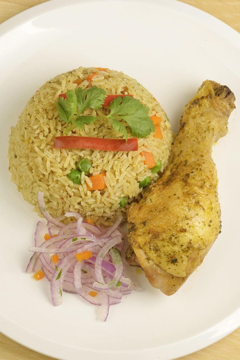 Peruvian chicken and rice dish