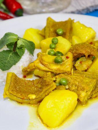 cau cau peruvian stew dish
