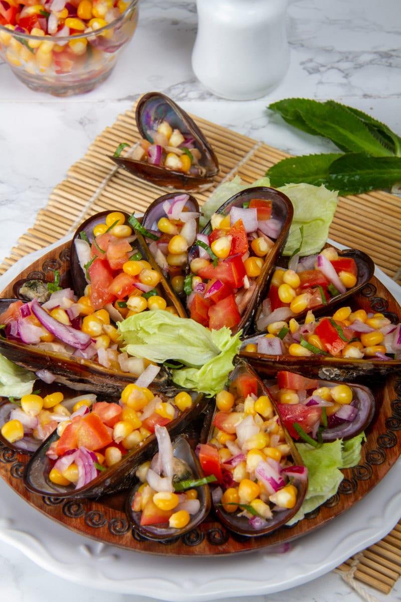 choros chalaca peru mussels dish
