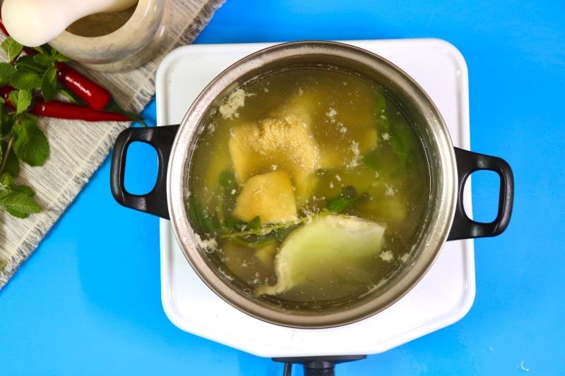 step 2 fresh water boil the tripe in water