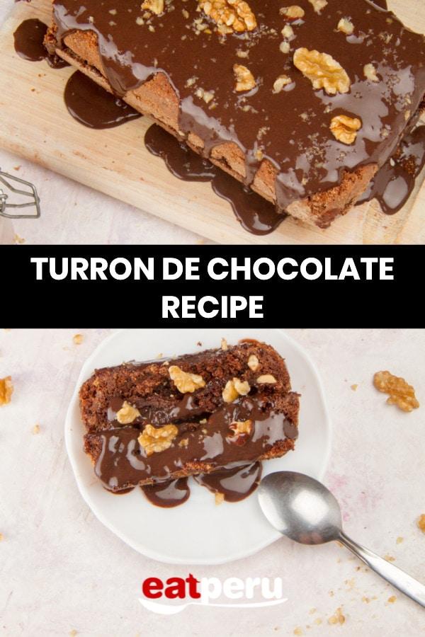 Turrón de chocolate peruano recipe