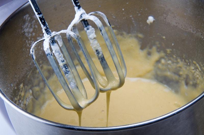 whisk eggs milk vanilla