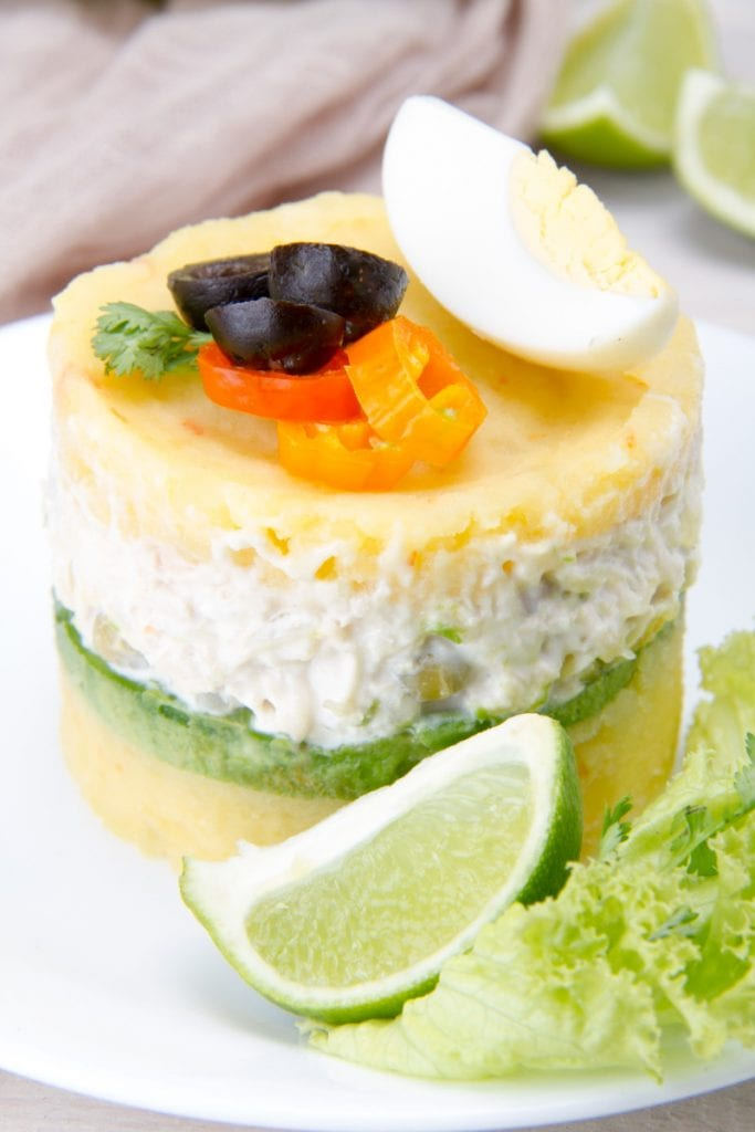 Causa With Lime Pepper Olives